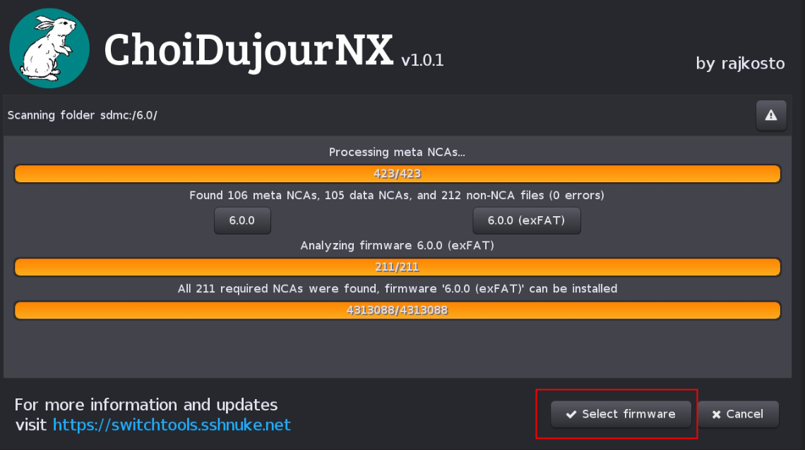 任天堂NS SWITCH 最新10.1.1系统离线升级教程