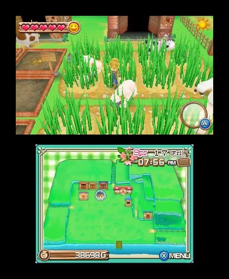 3DS《牧场物语:起源的大地 Harvest Moon 3D: A New Beginning》欧版+美版CIA下载